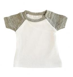 Mini tshirt wit/grijs