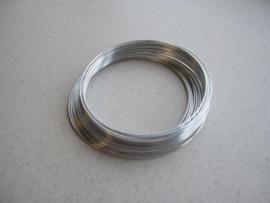 Aluminiumdraad zilverkleur 1,0 mm 8 MT