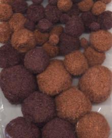 Mix PomPom Set bruin tinten 50 ST 1.0 - 1.5 - 2.0 - 2.5 cm  12233-3316