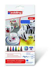 edding-4200 ass. porselein brushpen family   6ST 1-4 mm / 4-4200-6