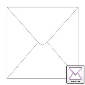 Envelop 20 stuks Vierkant Wit 17x17