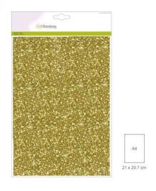 1 vel goud  Glitterpapier 29x21cm 120gr