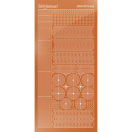 Hobbydots stickervel 006 - Copper (Mirror)