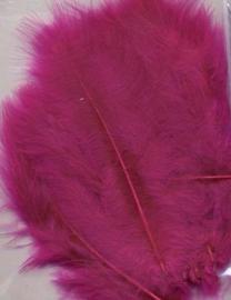 Marabou veren fuchsia 15 ST