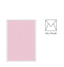 envelop 14 x 14 Roze