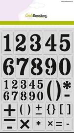 CraftEmotions stencil - cijfers vintage A4 - H=56mm