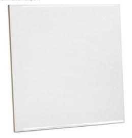 Witte keramische tegel 15 x 15 cm mat Sublimatie