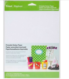 Cricut Printable Sticker Paper 12 sheets ( 21,5 cm x 27,9 cm )