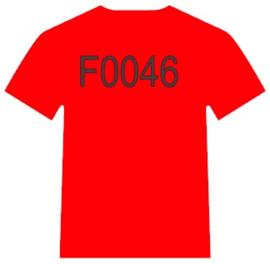 F0046   Red  Siser Videoflex moda Vernice