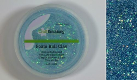 CraftEmotions Foamball clay - luchtdrogende klei - lichtblauw glitter 30gr