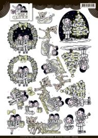 3D knipvel - Yvonne Creations - Pretty Pierrot Christmas