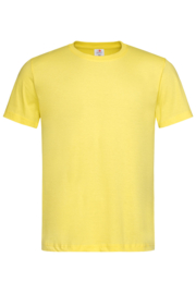Classic-T Crew Neck Men Yellow Maat  L