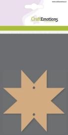 MDF basisvormen ster 8-punt (3 st) 10cm x 3mm