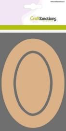 MDF basisvormen rand ovaal + binnenovaal 3 st 10 x 14,8 cm x 3mm