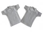 mini t-shirt white, katoen, kleur wit