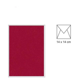 envelop 14 x 14 Donker Rood