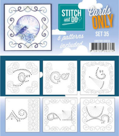 Stitch and Do only cards set 35