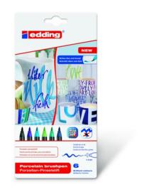 edding-4200 ass. porselein brushpen cool   6ST 1-4 mm / 4-4200-6099