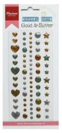 Enamel dots - Gold & silver PL4510