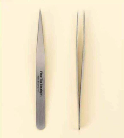 Pincet stainless steel super fijn recht 12,3 cm