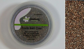 CraftEmotions Foamball clay - luchtdrogende klei - bruin 15gr
