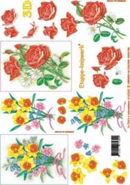 Le Suh gele/rode bloemen