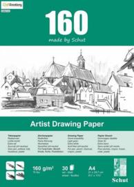 Schut Artist Drawing Paper  160 gram  A4 bloc a 30 vel