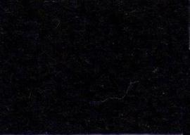 Viltlapje viscose zwart   20x30cm - 1mm  1 vel