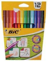 12 Kleurstiften Bic