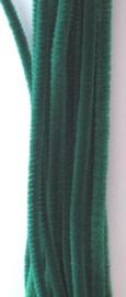 Chenille groen 6mm x 30cm 20st