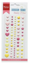 Enamel dots - Baby pink PL4512