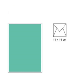 envelop 14 x 14 Turkoois