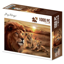 ADPZ1002 Puzzle 1000 pc - Amy Design - Wild Animals - Lion with cubs