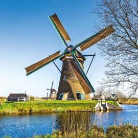 CraftEmotions servetten 5st - Nederlandse windmolen 33x33cm Ambiente 13310180