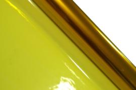 Cellofaan folie geel 70x500cm
