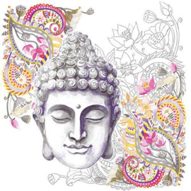 Servetten 5st - Buddha hoofd 33x33cm Ambiente 13313036 (04-19)