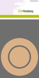 MDF basisvormen rand cirkel + binnencirkel 3 st 10cm x 3mm