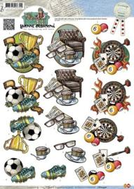 3D Knipvel - Yvonne Creations - Men - Sports  CD10340