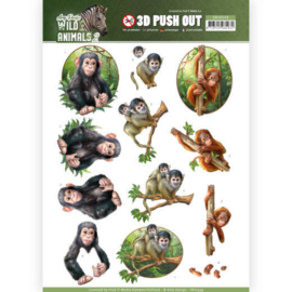 Amy Design - Wild Animals apen Push out