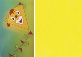 Folia Vliegerpapier citroengeel 70x100cm 88120-12