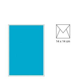 envelop 14 x 14 Azuurblauw