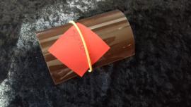 Donker bruin 50 x 10 cm