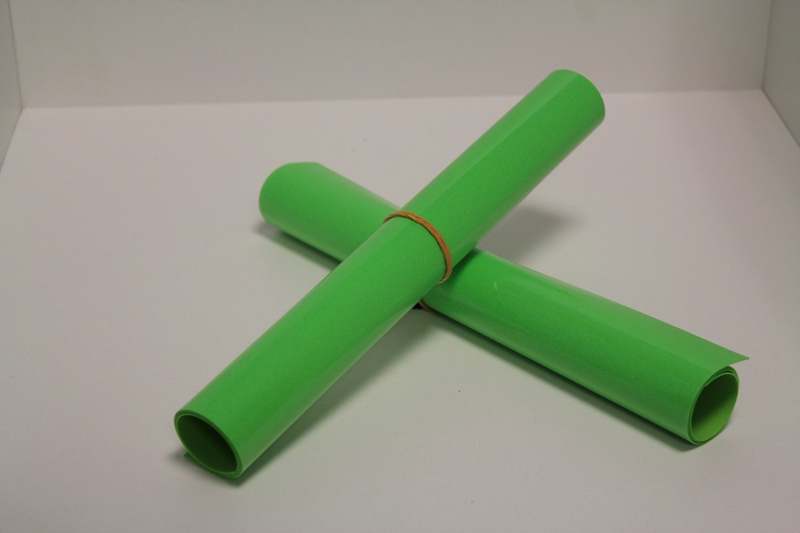 S0026 Neon Green Flock 30 x 50 cm