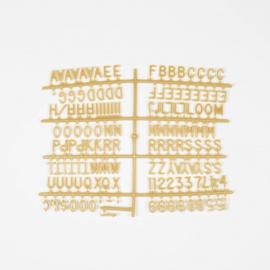 Letterset letterbord goud