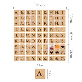 Scrabble Letters - zelfklevend