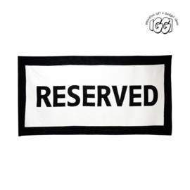 Strandlaken reserved