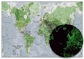 Wereldkaart - Glow In The Dark