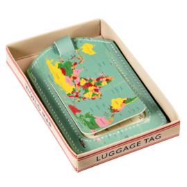 Bagagelabel - World Map