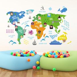 Kinder wereldkaart