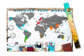 Kraskaart Wereld - Deluxe